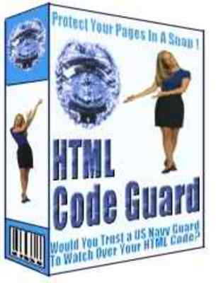Product picture HTML Code Guard - Protect Your Web Pages And Double Your Pro
