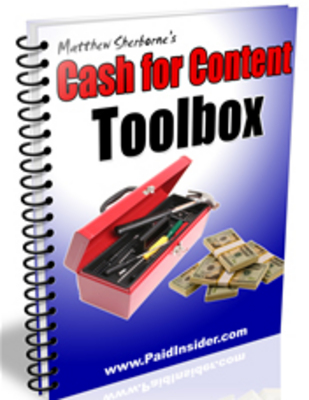 Product picture Cash For Content System ! Master Resale Rights included