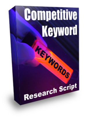 Product picture *NEW* Competitive Keyword Research Script With Resale Rights