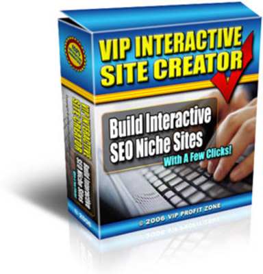 Product picture  VIP Interactive Site Creator - MASTER RESALE RIGHTS