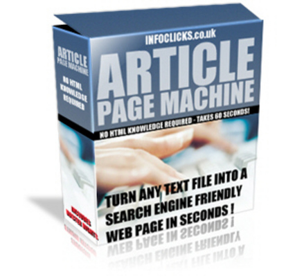 Product picture  Article Page Machine - Download Website Promotion